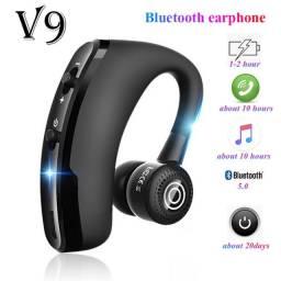 Título do anúncio: Fone de ouvido V9 sem fio bluetooth 5.0 com microfone dura 20 horas