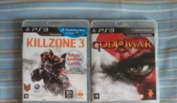 Jogos ps3 GOD of war 3 e Killzone 3