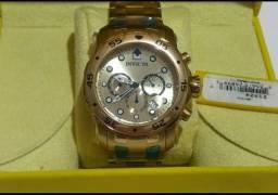 Relógio invicta banhado a ouro original 99758-9841 whatsapp