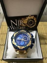 Relógio invicta thunderbolt novo fundo azul ou todo dourado MELHOR PREÇO