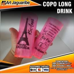 100 unidades de copos long drinks para festas e eventos