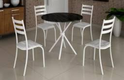 Receba já ou retire na loja 97970-4415-Mesa Redonda Com 4 Cadeiras Tampo 600221156b