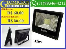 Refletores SMD Lampada Led 50w Bivolt Branco Frio Temos outros tamanhos (Loja Geomicros) comprar usado  Salvador