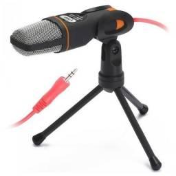 Microfone P2 Condensador KP-917 Com tripé Gravação Profissional