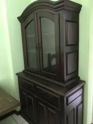 Estante de madeira e vidro para sala (mostruário)