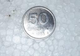 Moeda rara de 50 Cruzeiros (1985)
