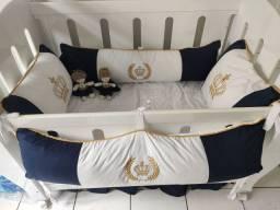 Kit de berço mais kit cama da babá mais cortina