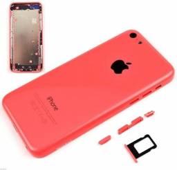 Carcaça Tampa Traseira Rosa Original Do iPhone 5C, Botões e tray para colocar chip