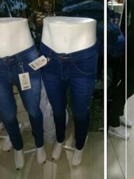 Calça jeans primeira linha com alastano