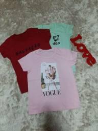 Blusas T-shirt várias estampas