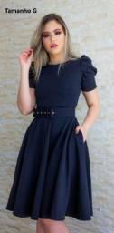 Vestido Social com Cinto Moda Evangélica