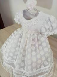 Vestido Princesa bebê tamanho P branco
