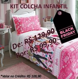 Kit colchas infantis Black Friday