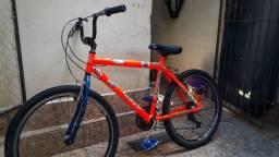 Bike Aro 26 Laranja Neon