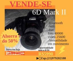 Camara Canon 6D Mark II para profissionais