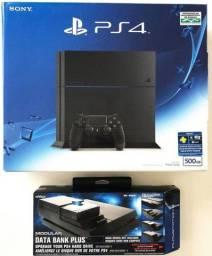 PlayStation 4 500gb + Nyko Data Bank Plus + HD 4tb
