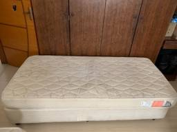 Cama Box Sommier Plus base + colchão