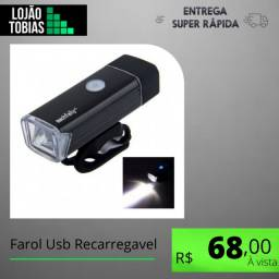 Título do anúncio: Farol Usb Recarregavel p/ Bicicleta Modelo Machfally 180 Lumens