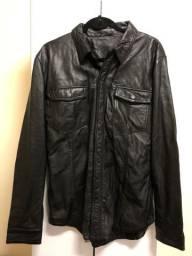 Jaqueta de Couro masculina Leather Shirt - Osklen