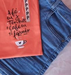 Título do anúncio: T-shirt 100% algodão com frases
