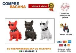 Caixa de Som Minibulldog Francês Cachorro Bluetooth
