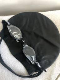 Oculos e toquinha de natação -seminovo