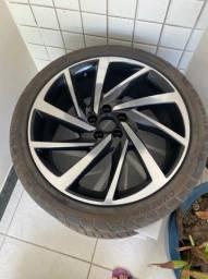 Vendo 3 rodas e 4 pneus Aro 18/225/40