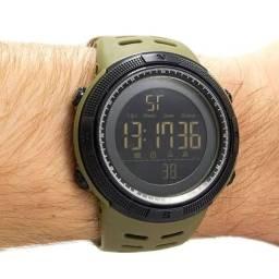 Relógio Masculino Digital Skmei 1251 Original 5ATM Verde Militar