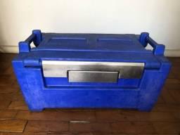 Caixa térmica de transporte de alimentos quentes