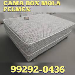 cama box de mola, cor branca, promoção