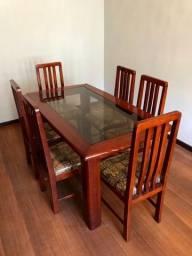 Mesa de Jantar com 6 Cadeiras - madeira