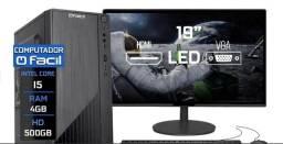 """Título do anúncio: Vendo computador Completo , Com mouse , Teclado e monitor de LED 19"""" polegadas"""
