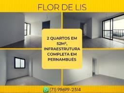 Flor de Lis, 2 quartos em 52m² - Imperdível
