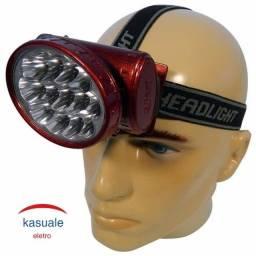 Lanterna De Cabeça 13 Led Muito Forte Recarregável