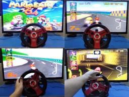Volante Com Pedal Para Nintendo 64 N64