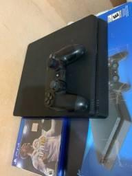 Título do anúncio: Playstation 4 slim, 1 tera de memoria