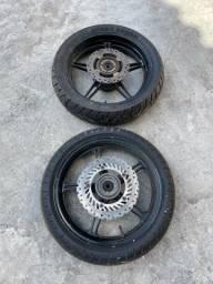 Roda liga CB300 c/ freio a disco