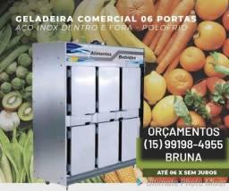 GELADEIRA COMERCIAL 6 PORTAS INOX