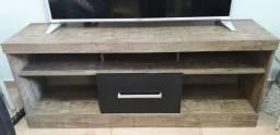 Rack de madeira para sala