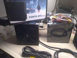 fonte pc 450 watts real nova adaptada para xbox one com garantia!