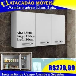 Título do anúncio:  Armário de cozinha suspenso 3 portas branco