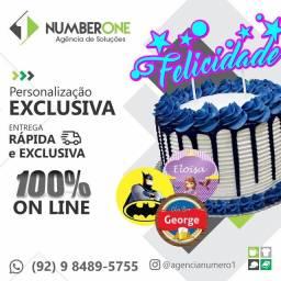 Título do anúncio: Gráfica Rápida | Brindes, Topose de bolo, adesivo, banners, Convites