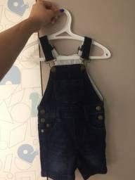 Macacão jeans da Tigor Baby