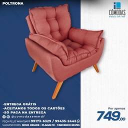 Título do anúncio: Poltrona - Tecido Inca - Cor Ferrugem