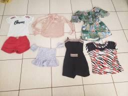 Vendo lote de roupas incluso conjuntos e macacões