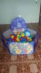 Piscina de bolinhas infantil com 50 bolas