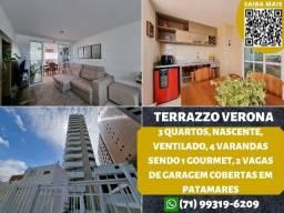 Título do anúncio: Terrazzo Verona, 3 quartos em 115m² com 2 vagas de garagem em Patamares