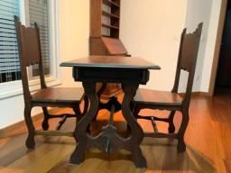 Título do anúncio: Mesa, antiguidade, madeira, escrivaninha, escritório