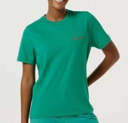 Blusa Feminina Regular Word Hering - Verde - Tamanho M (Nova)