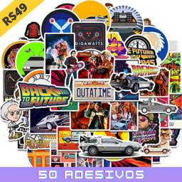 50 Adesivos Decorativos Do Filme - De Volta Para O Futuro -